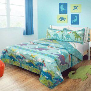 New Kids Dino Park 3-Piece Quilt Set